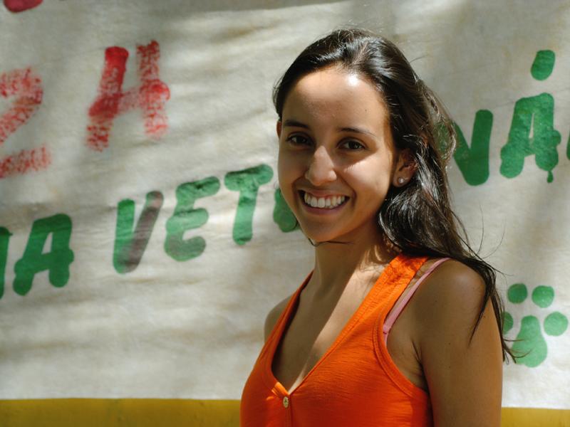 Eliza foi aprovada em Medicina Veterinária. Foto: Luciele Oliveira
