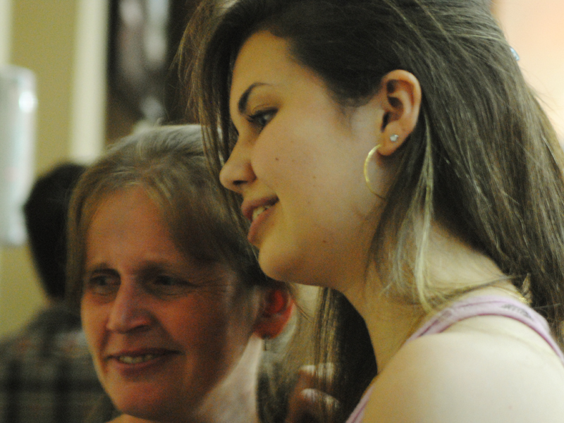 Maria Gabriela e a mãe comemoravam a aprovação em Odontologia. Foto: Luciele Oliveira