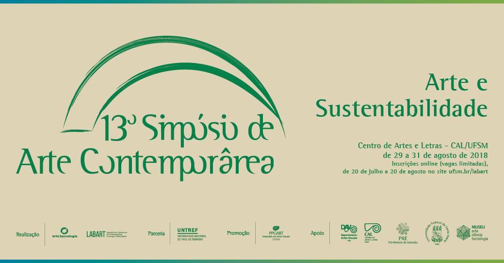 Banner colorido do 13º Simpósio de Arte Contemporânea
