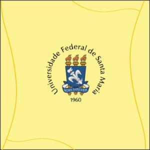 Marca do Setembro Amarelo com brasão da UFSM e fundo em amarelo