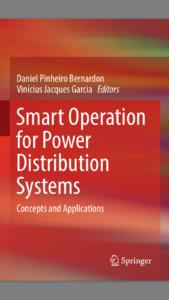 """Capa do livro com o título em inglês """"Smart Operation for Power Distribution Systems"""""""