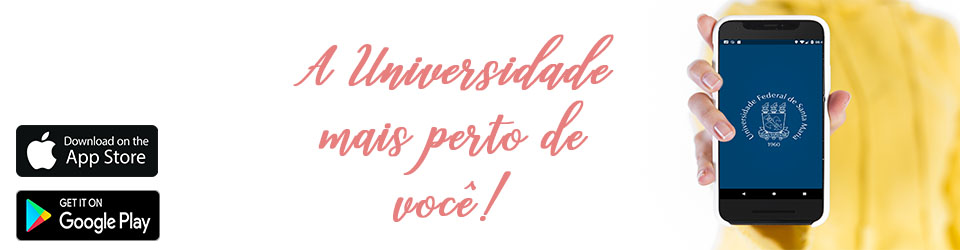 Banner de divulgação da UFSM Digital para iOS com o texto