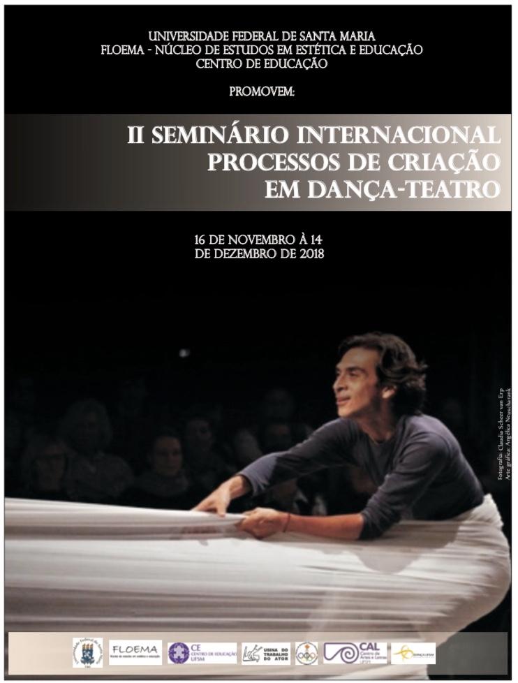 Arte com informações do evento sobre uma foto de cena teatral