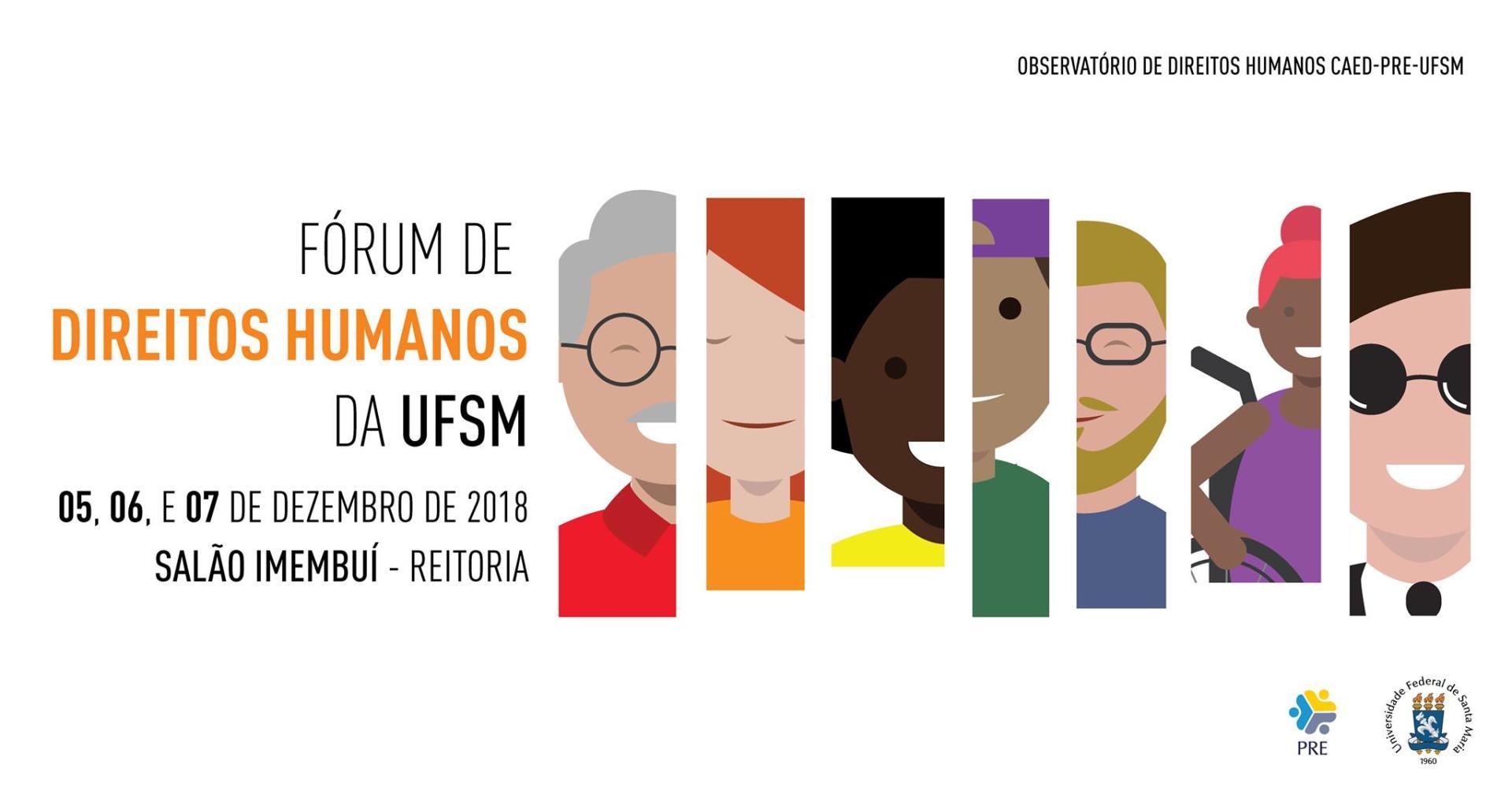 Peça de divulgação do Fórum de Direitos Humanos
