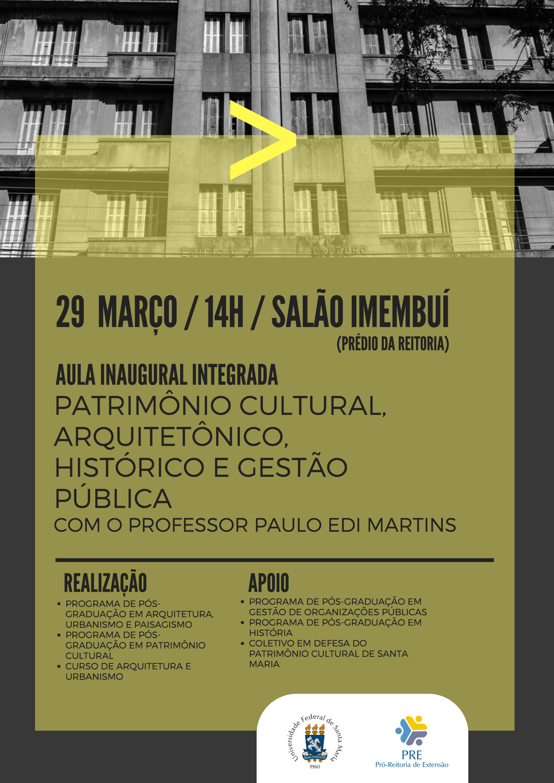 Arte com informações sobre o evento