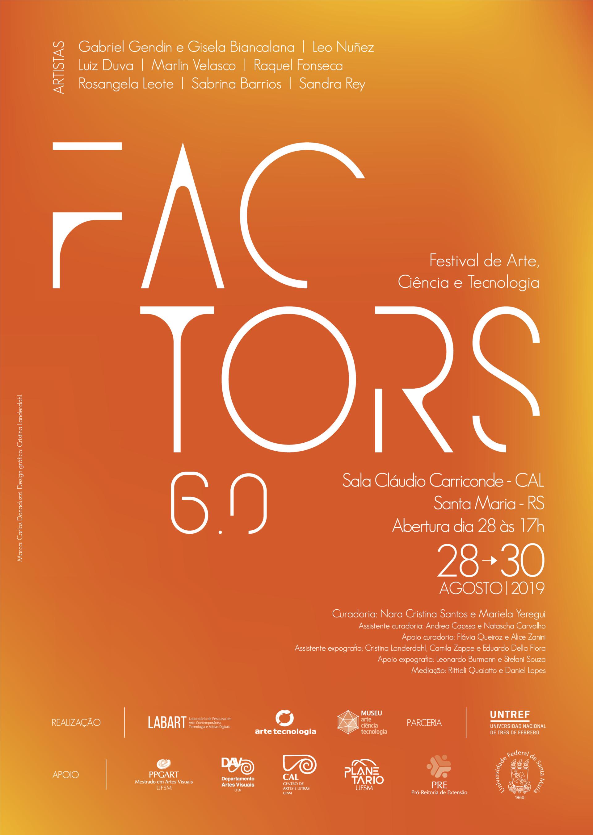 Arte vertical com tons laranja com informações sobre o evento
