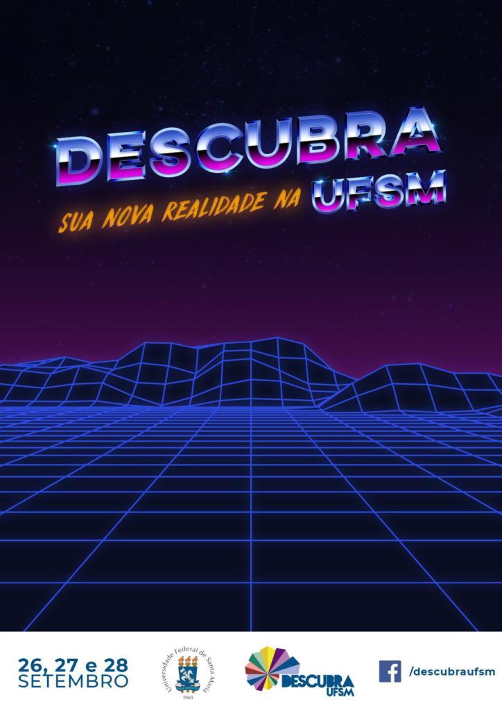 Arte vertical com a logo e slogan do evento em tons de roxo, conforme a identidade visual da edição