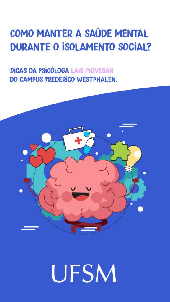 Story Dicas pra manter a saúde mental no isolamento social