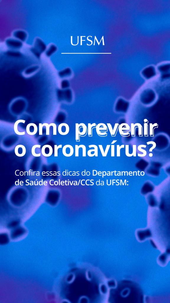 Story Como prevenir o coronavírus