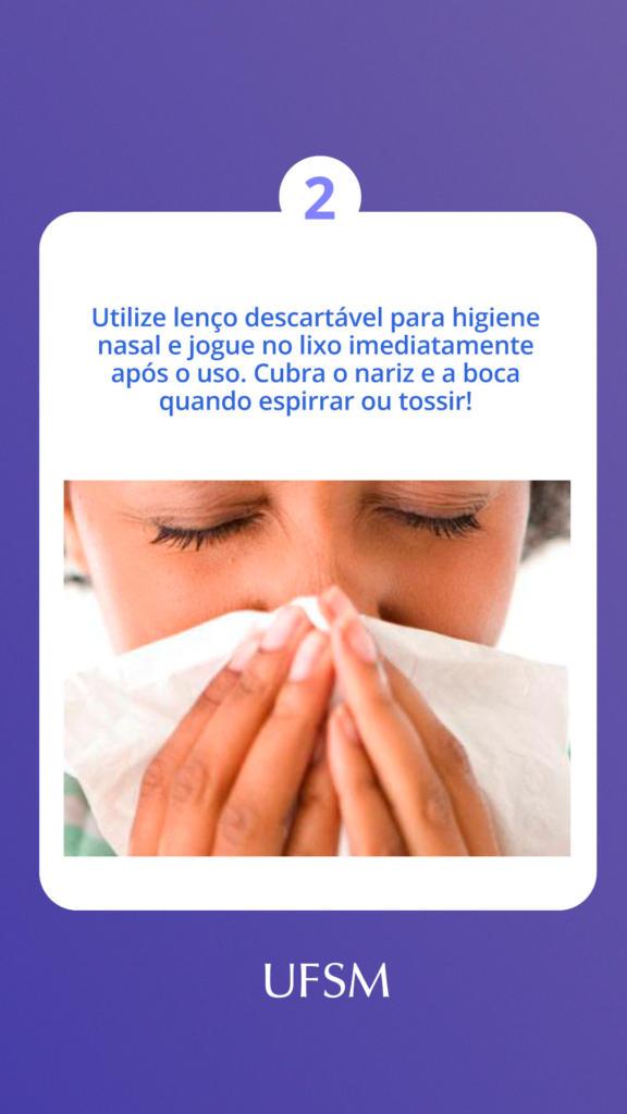 Story assoar o nariz em lenço e cuidado ao espirrar