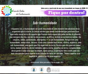 Post CAED sobre sub-humanidade