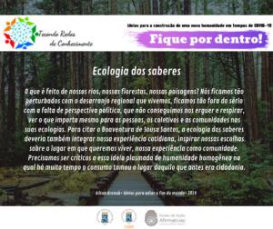 Post CAED sobre ecologia dos saberes