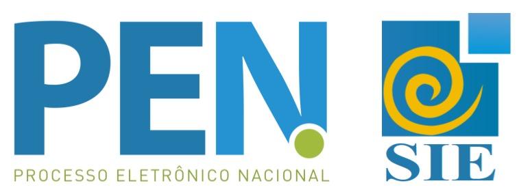 Imagem contento o logo do PEN (Processo Eletrônico Nacional) seguido do logo do SIE (Sistema de Informações para o Ensino)