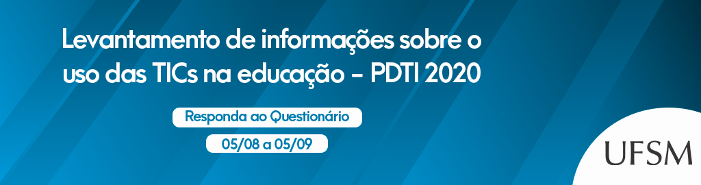Banner pesquisa sobre uso de tecnologias de informação e comunicação na educação