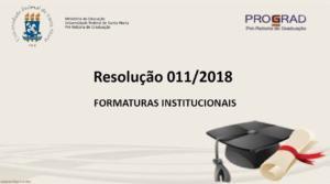 Apresentação em PDF: Formaturas Institucionais na UFSM
