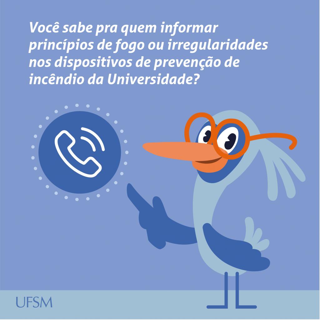 Card para Facebook sobre contatar NPI em caso de princípio de incêndio