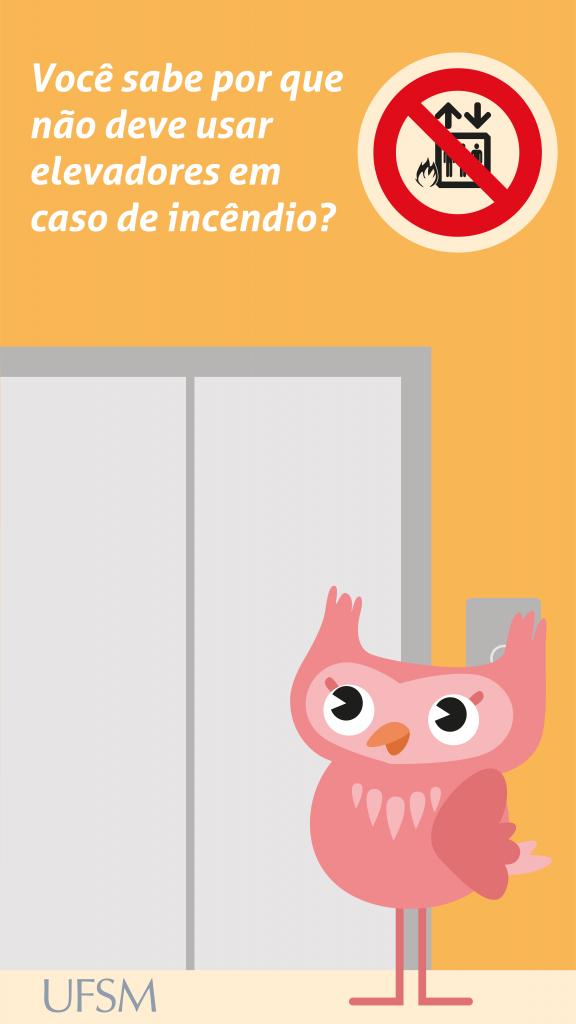 Storie sobre não pegar elevador em caso de incêndio