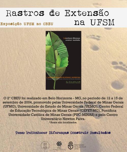 Exposição UFSM no Congresso Brasileiro de Extensão Universitária (CBEU)