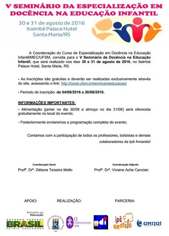 convite especialização