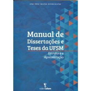 Capa do Manual de Dissertações e Teses da UFSM