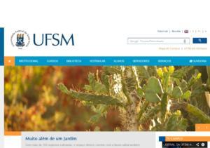 Capa do site da UFSM com a reportagem