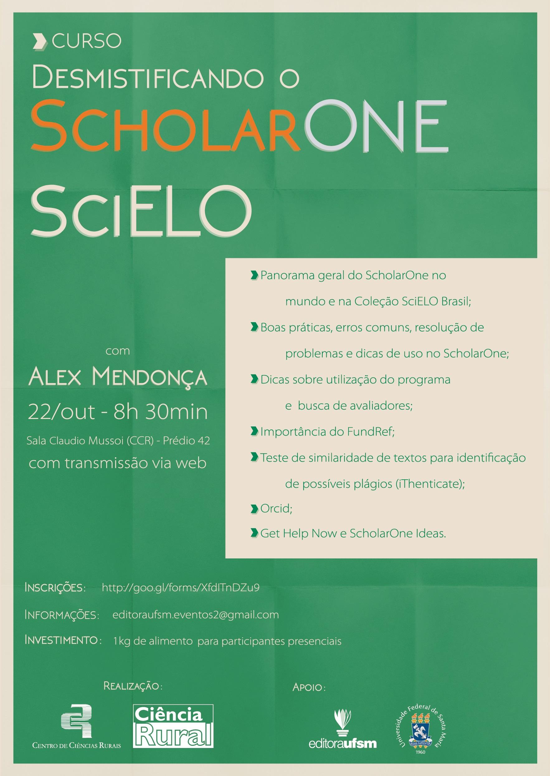 ScholarOne SciELO 1 1 1