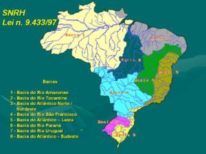 figura lei 19.433-97 bacias hidrográficas brasil