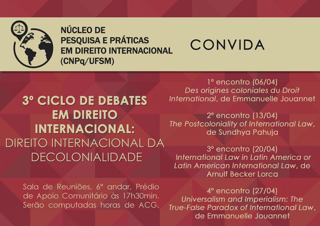 3º ciclo de debates em direito internacional