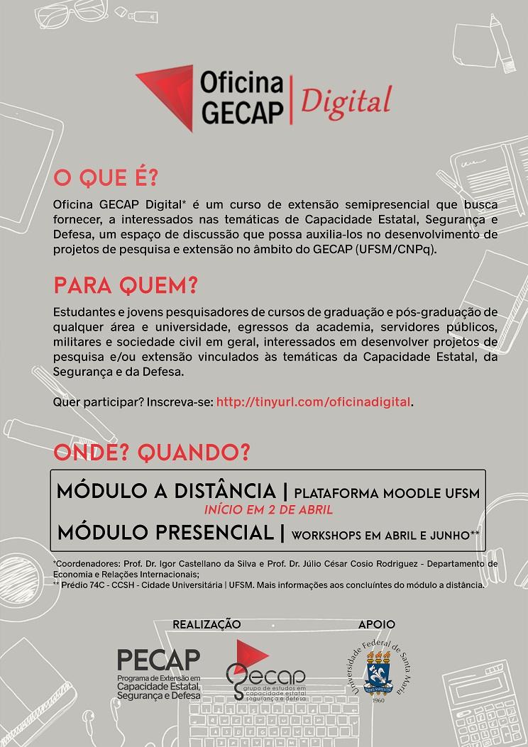 GECAP 2018 Oficina GECAP Cartaz