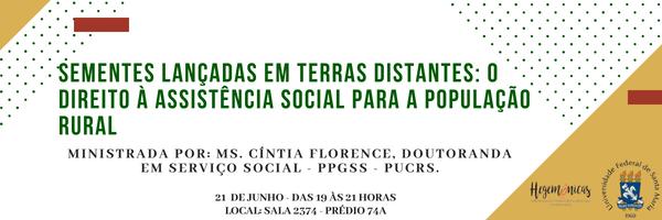 Sementes lançadas em terras distantes o direito à assistência social para a população rural