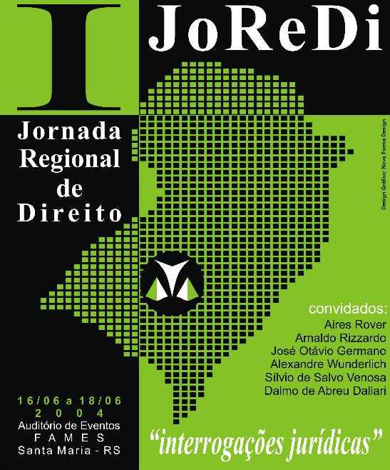 I Jornada Regional de Direito - CCSH