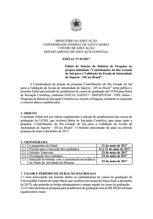 Edital FIPE 1