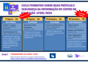 Imagem contendo a programação do evento, como na tabela anterior.