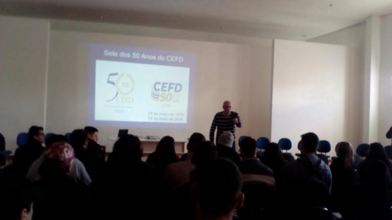 Prof. Matheus Saldanha, servidor aposentado, resgata os 50 anos de história do CEFD