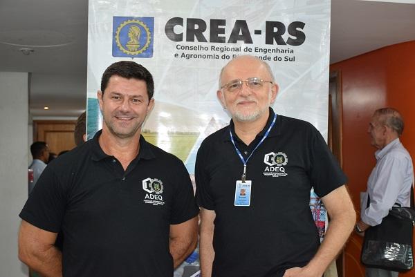Da esquerda para a direita o Coordenador Luís Sidnei Machado e o Coordenador-adjunto Engenheiro Químico Ronaldo Hoffmann