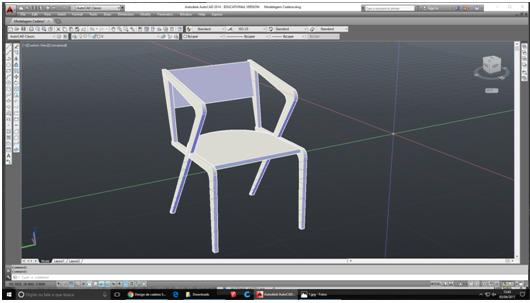 Etapa 1 - modelagem da cadeira