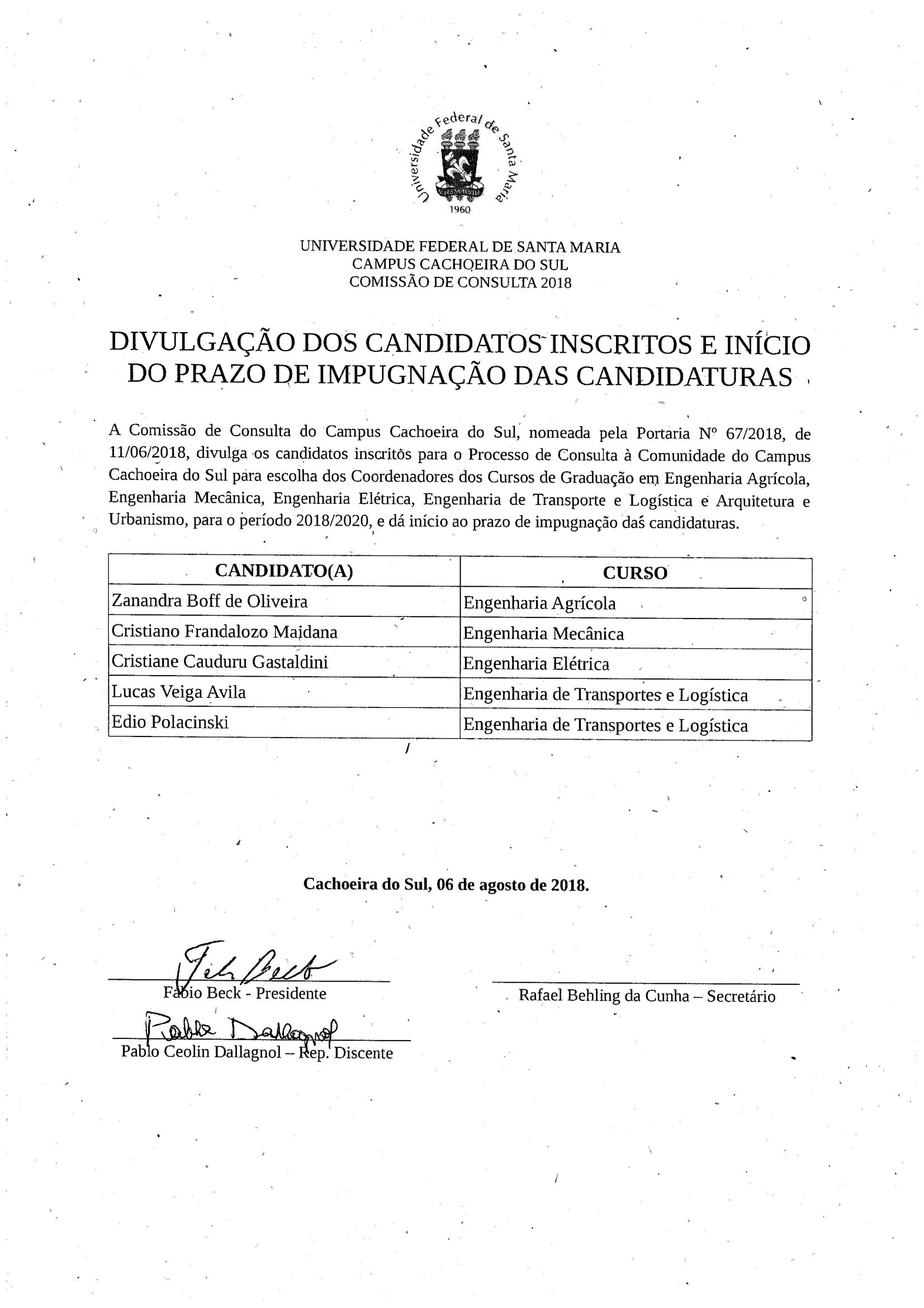 divulgacao candidatos inscritos 2018-1