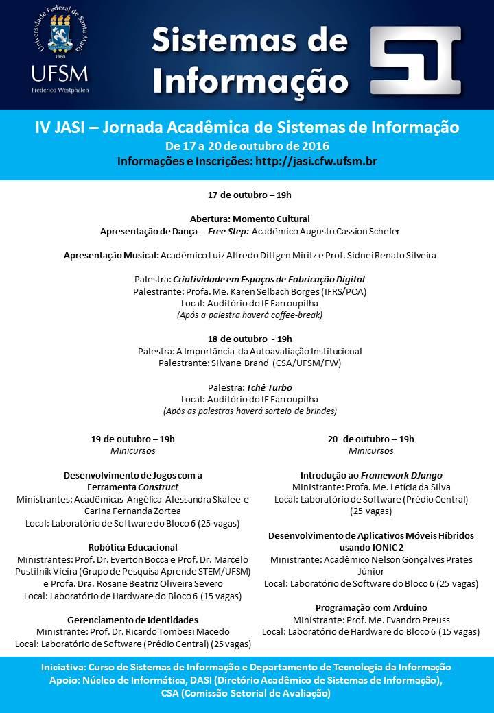 Pre-divulgacao IV JASI - com minicursos 2