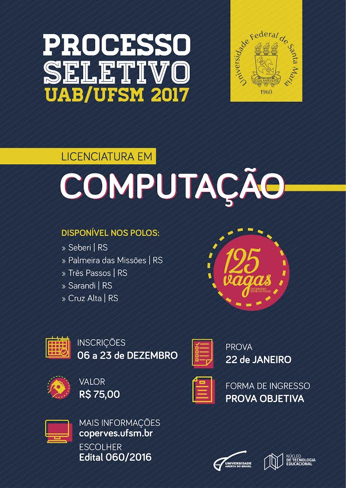 Licenciatura em Computacao - edital de selecao 2017