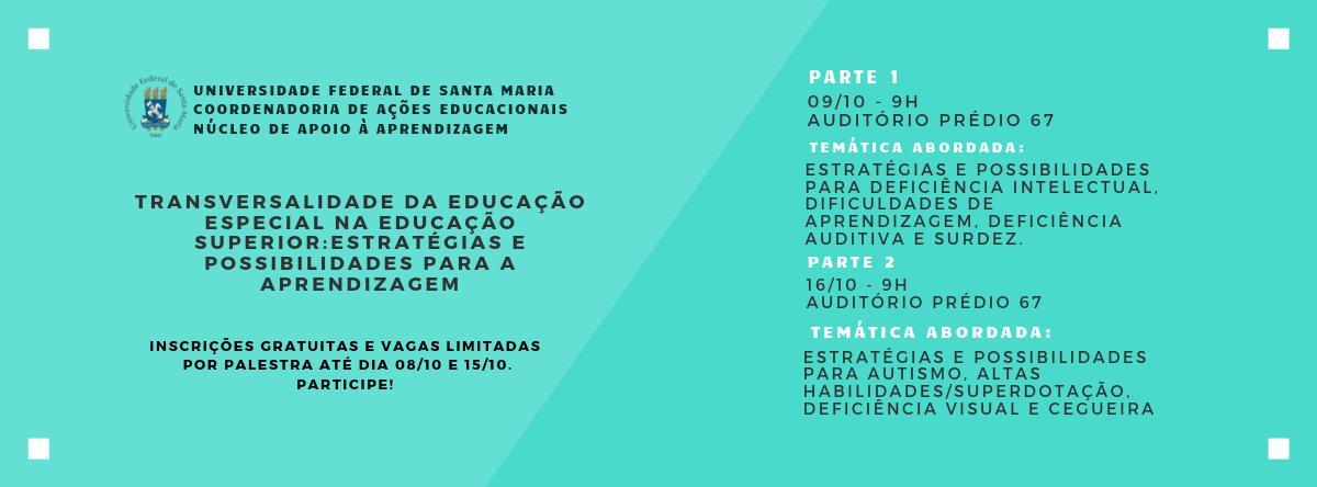 """Curso """"Transversalidade da Educação Especial na Educação Superior: estratégias e possibilidades para a aprendizagem"""