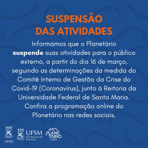 SUSPENSÃO DAS ATIVIDADES (1)