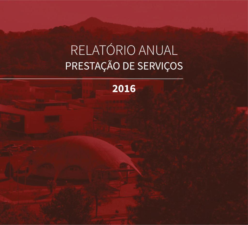 Relatório Anual Prestação de Serviços 2016