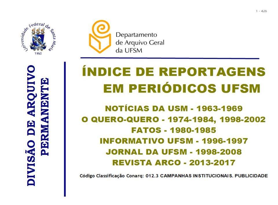 Capa indice peridicos UFSM