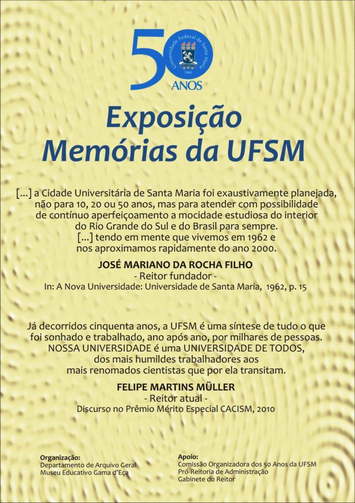 UFSM 50 anos exposio painel 1