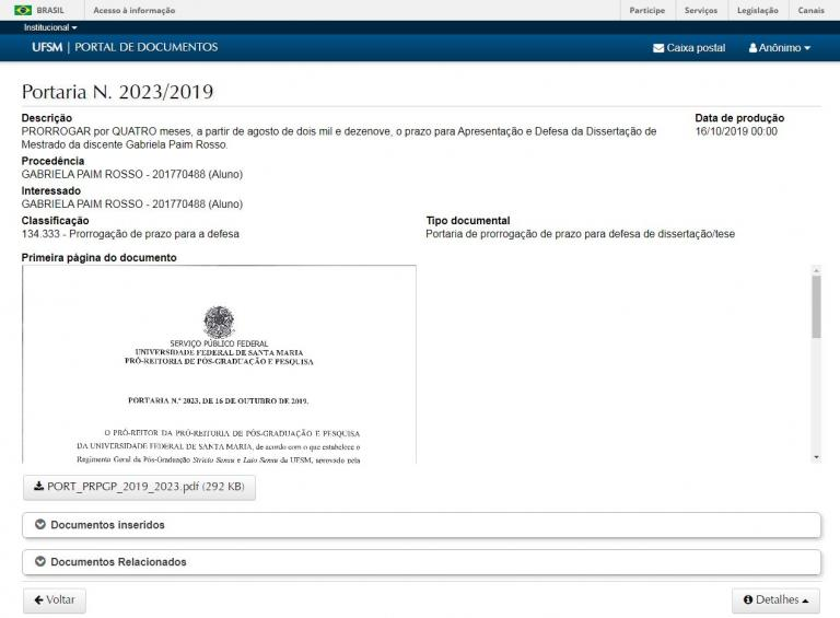tela portaria no portal documentos