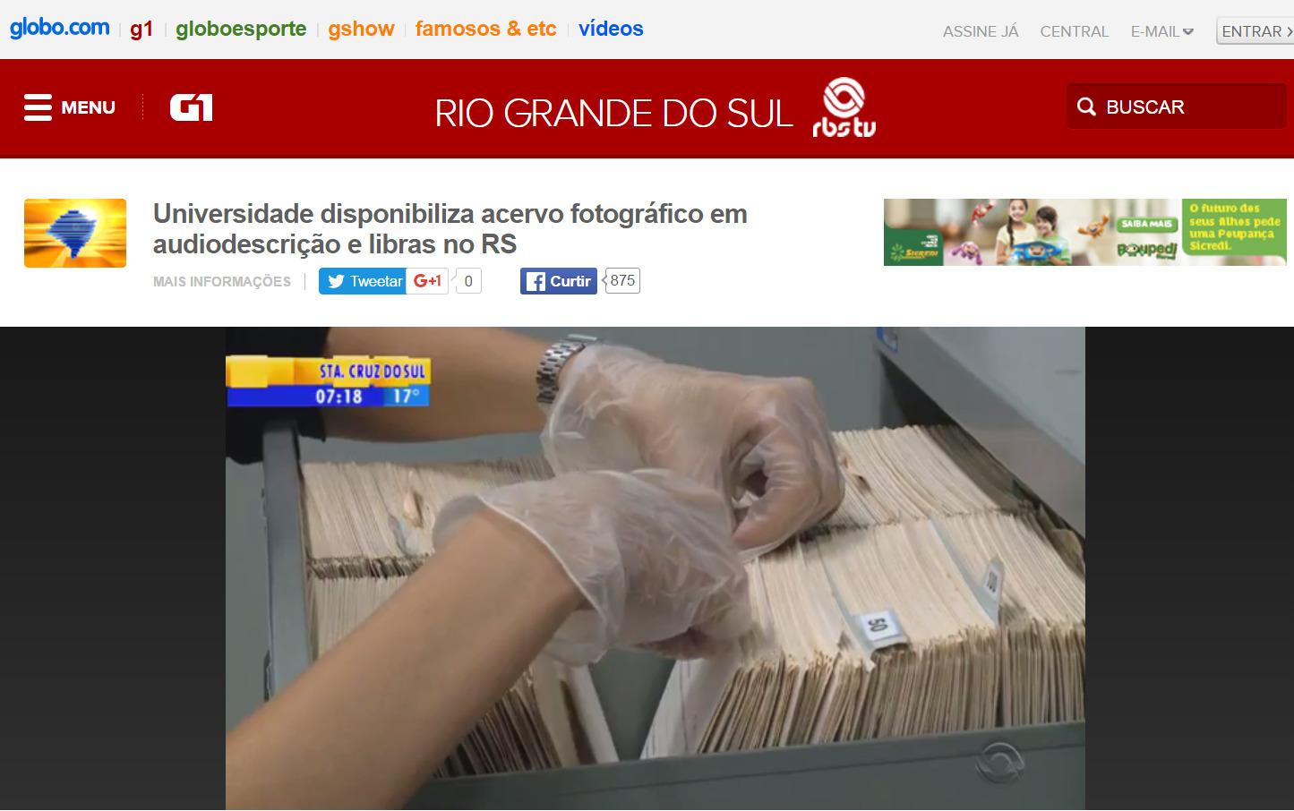 Projeto Retalhos no Programa Bom Dia Rio Grande RBS TV