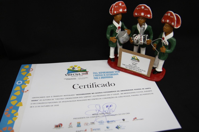 Certificado premiação 1° lugar VIII CNA banner Projeto Retalhos