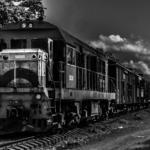 Obra: Trem de Santa Clara. Dimensões: 30 X 40cm. Técnica: Fotografia preto e branco