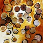 """Obra 1: Sem título, da série """"MatériaPrima"""". Dimensões: 90 x 70 cm. Técnica: pintura acrílica s/tela"""