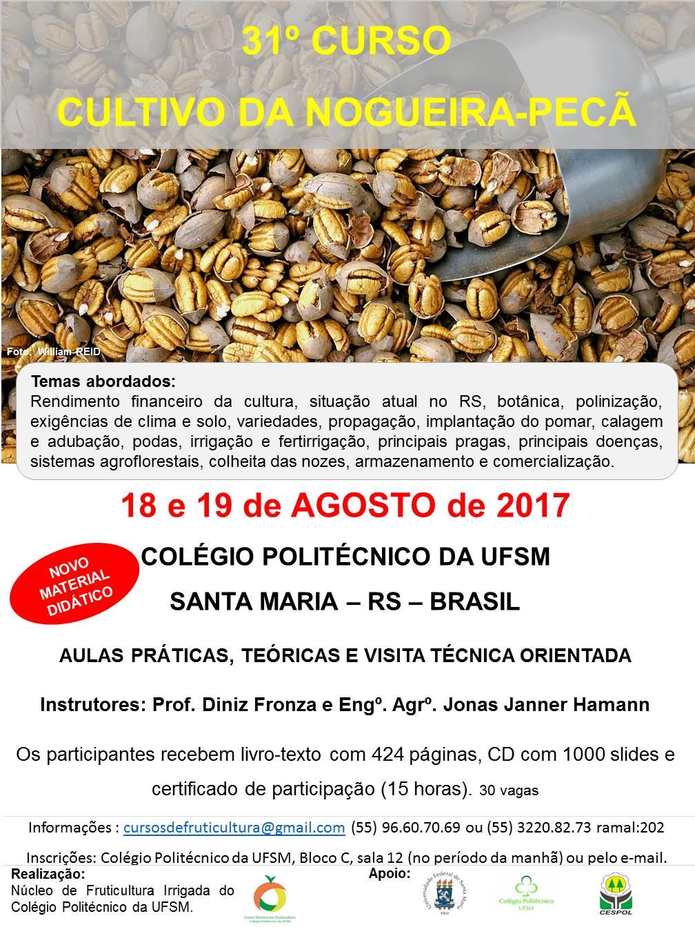 Cartaz 31 curso de nogueira 11 E 12 DE AGOSTO 2017